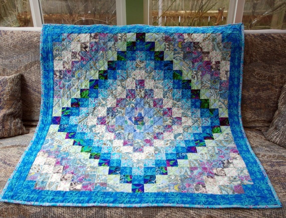 Quilted Wall Hanging Lap Quilt Throw Blanket by MoranArtandQuilts