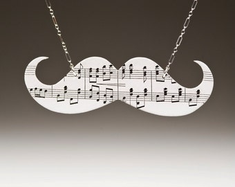 Musical Mustache Necklace