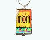 Mama Hug Soldered Glass Necklace
