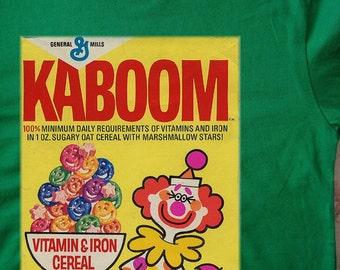 Kaboom vintage cereal adult t-shirt