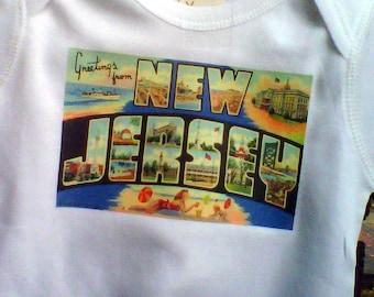 vintage NJ postcard showing the love