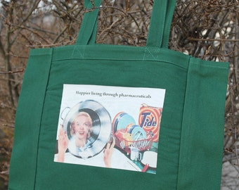 Pharmaceutical comical canvas tote