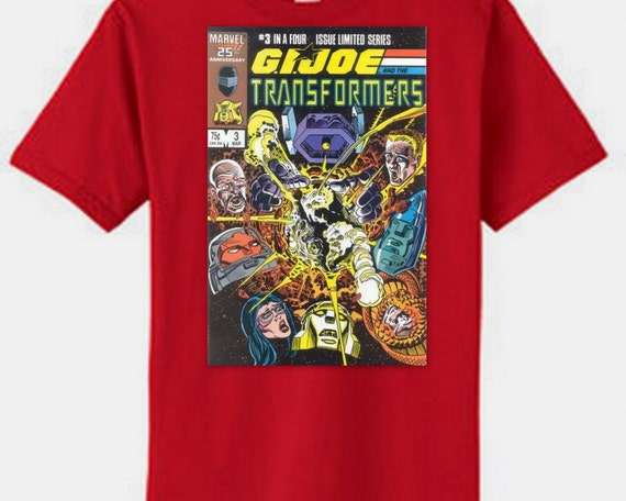 G.I. Joe and Optimus Prime Transformer  tee