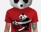 Panda Bitchslap // Men's Large // Red