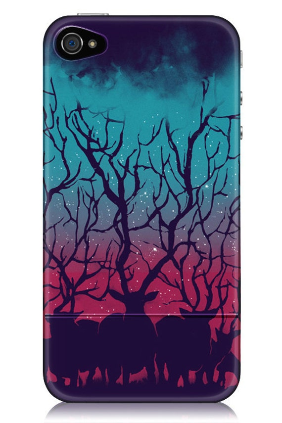 Deer Forest iPhone Case for iPhone 4 and 4S
