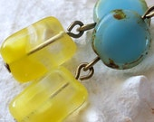 Summer Inspired Series - Yellow and Blue Earrings - mompotter