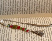 Christmas Tree Beaded Bookmark