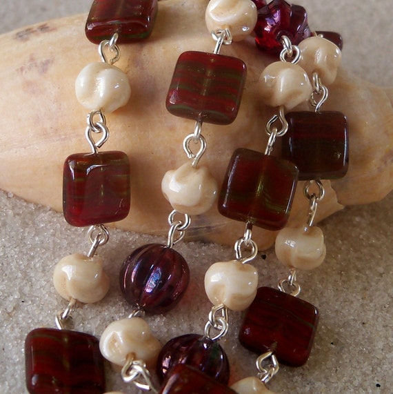 Red Melon and Ivory Necklace