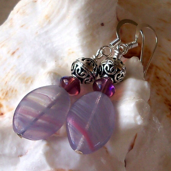 Amethyst and Lilac Earrings