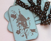 Blooming Bird House Tags