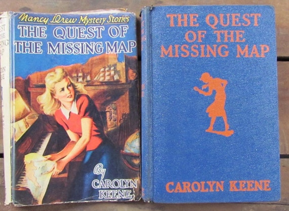 Cook Book Cover Quest : Nancy drew book with dust cover the quest of missing