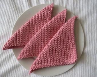 Pink Eco-Friendly Cloths- Set of 3