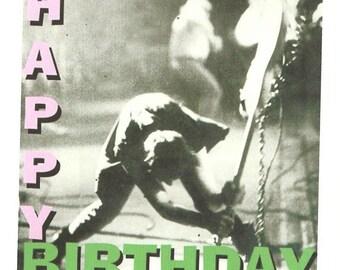 The Clash birthday card