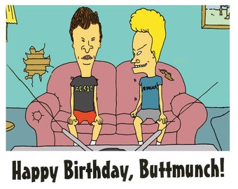 Beavis and Butthead Birthday Card