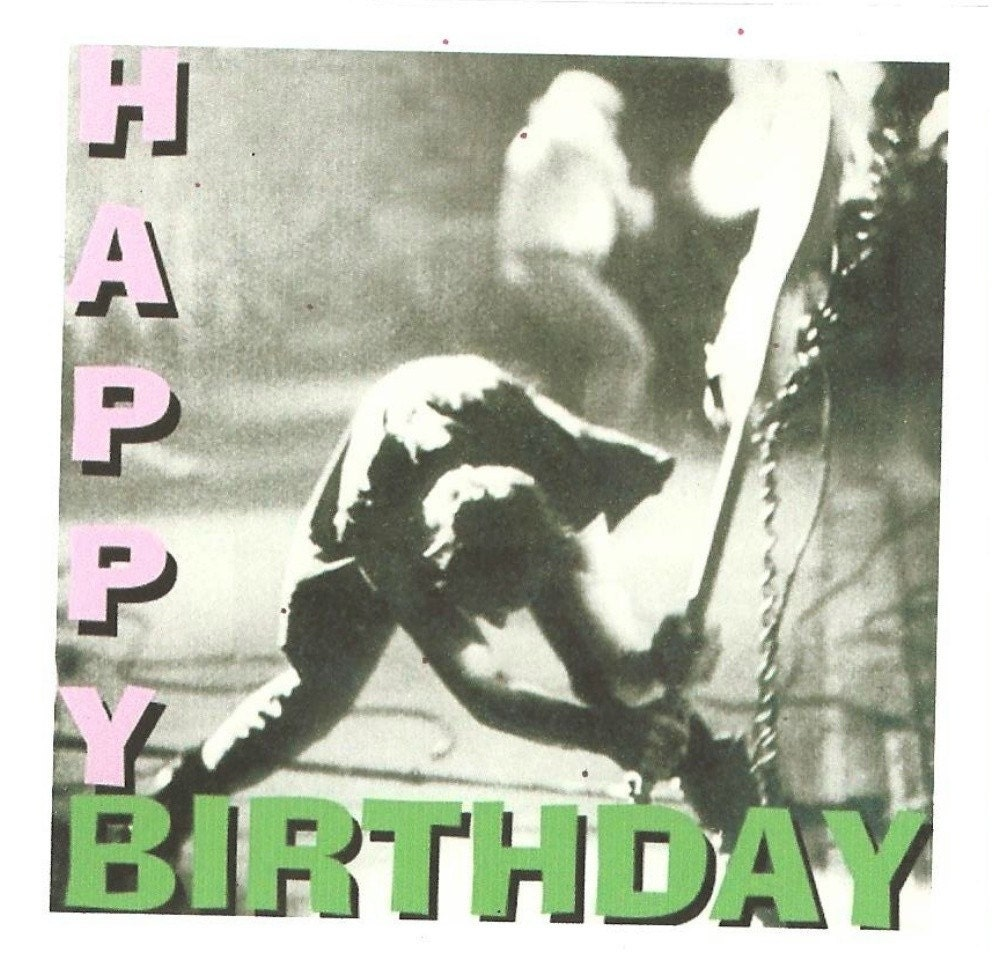 the clash birthday card, Birthday card