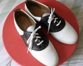 1950s Vintage Saddle Oxford Shoes 8 1/2 M Biltrite Sole