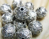Beading Supply -  Genuine Bali Sterling Silver Beads 12mm - Very Slightly Saucer Shaped - Quantity 1
