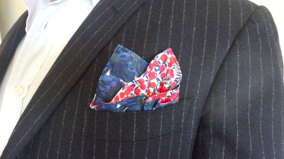 Mens Double Sided Liberty of London Pocket Square Handkerchief