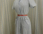 pin striped cotton 40s dress size small