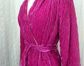 Amazing quilted velveteen dressing gown size small