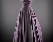 Stunning 1940s pale purple ball gown size x-small 40s hollywood glamour holiday prom sleeveless ombre