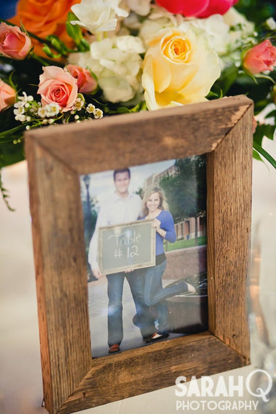 3 Primitive Rustic Old Barnwood Picture Frame 4x6 Wedding Photo Prop 150 yr old wood
