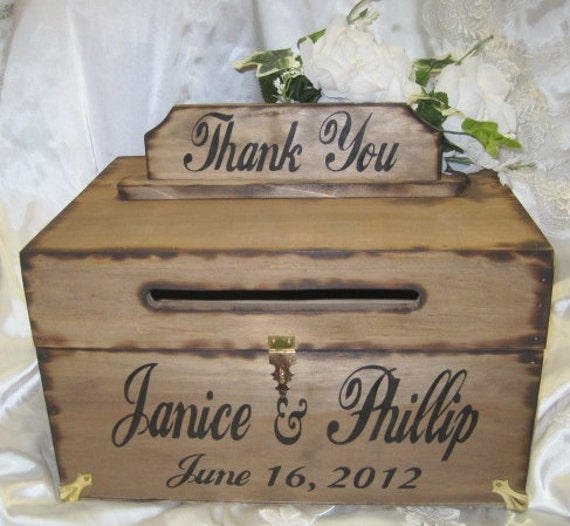 Rustic Wedding Gift Card Box : favorite favorited like this item add it to your favorites to revisit ...