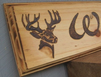 Rustic Woodburned Sign Personalized Family Name Sign Large