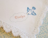 I Will Remember You - Pregnancy, Infant, Child Loss Memorial Handkerchief (Hand Embroidered - Made to Order)