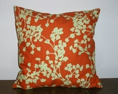 SALE...Decorative-Accent-Throw Pillow Cover - 18 inch Coriander in Clay by Amy Butler- Free US Shipping