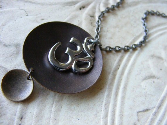 10 Dollar Clearance Sale- Om Necklace Meditation Sacred Spiritual Womens Jewelry