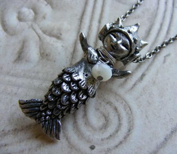 Mermaid Necklace Mermaid Girl Womens Jewelry