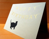 Happy Birthday with Cat Card