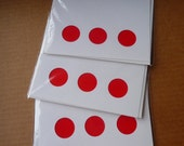 Red Dots Correspondence Card Set of Three