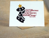 Jane Austen Christmas Card Single Card