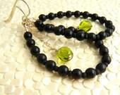 Leela Loop Earrings in Bright Green