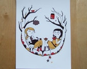 In the Tree - Print of my Illustration