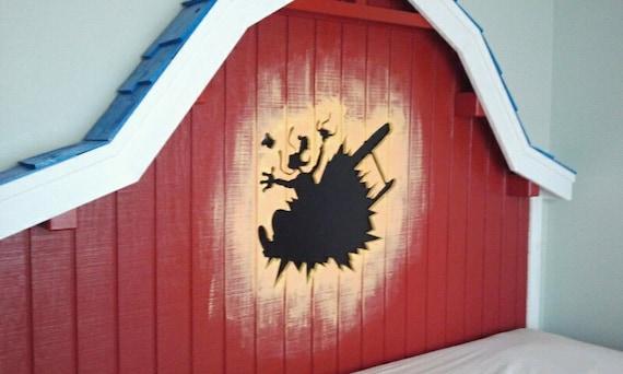 Toontown Barnstormer Goofy Bed Headboard