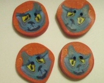 Fimo Cat Buttons