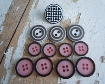Back to the 50's vintage buttons