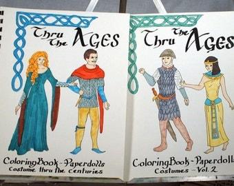 Medieval paperdoll coloring book