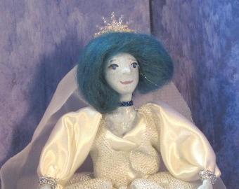 Snow Queen miniature  doll OOAK