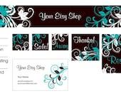 Clinging Vine Premade Etsy Shop Design Set