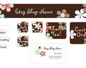 Plentiful Petals Premade Etsy Shop Design Set