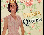 Original Collage ACEO--Miss Drama Queen