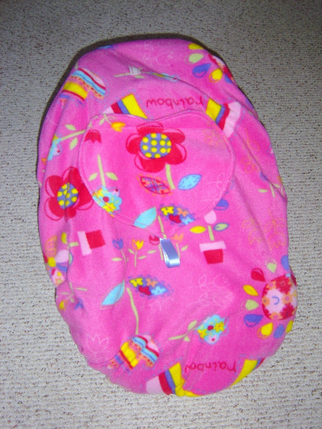 sale pink flowers infant car seat cover. Black Bedroom Furniture Sets. Home Design Ideas