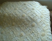 Vintage Yellow Chenille Twin Bedspread FREE SHIPPING