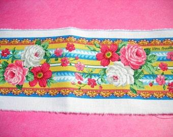 Fabric Trim Border Vera Bradley Floral Elizabeth Pattern Medium 1 yard