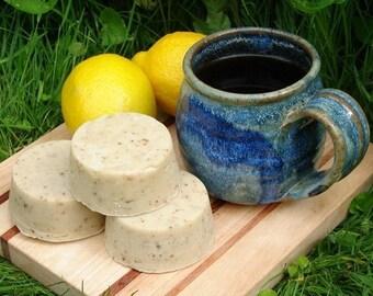 Black Tea with Lemon Soap 2 Handmade Hemp Soap Round Bars FREE SHIPPING