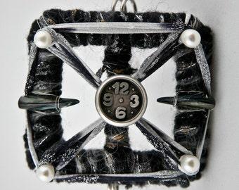Steampunk Clock Brooch